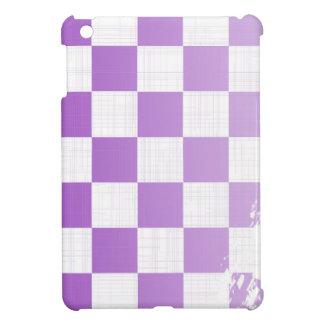 Chequered Purple Grunge iPad Mini Cases