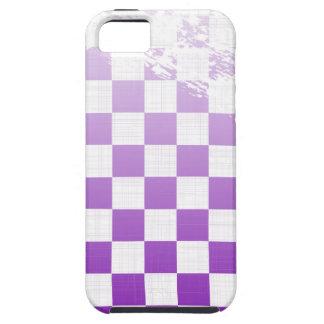 Chequered Purple Grunge iPhone 5 Case