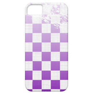 Chequered Purple Grunge iPhone 5 Covers