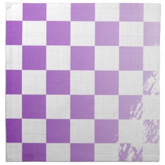 Chequered Purple Grunge Napkin