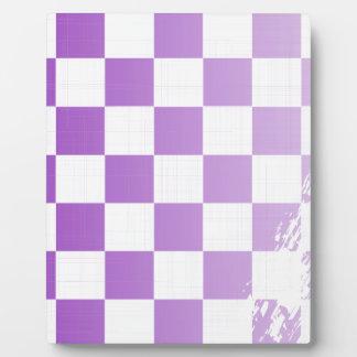 Chequered Purple Grunge Plaque