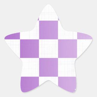 Chequered Purple Grunge Star Sticker
