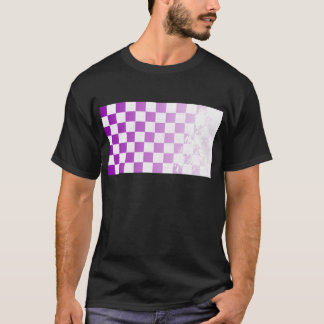 Chequered Purple Grunge T-Shirt