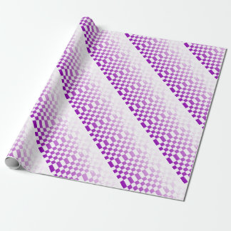 Chequered Purple Grunge Wrapping Paper