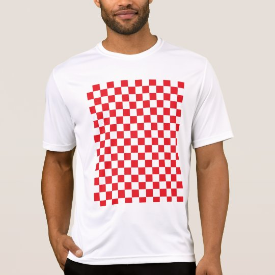 Chequered Red and White T-Shirt