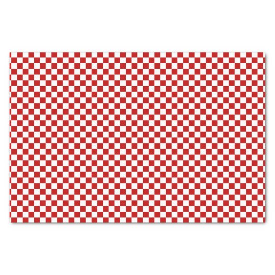 Chequered Red-White-Tissue Paper