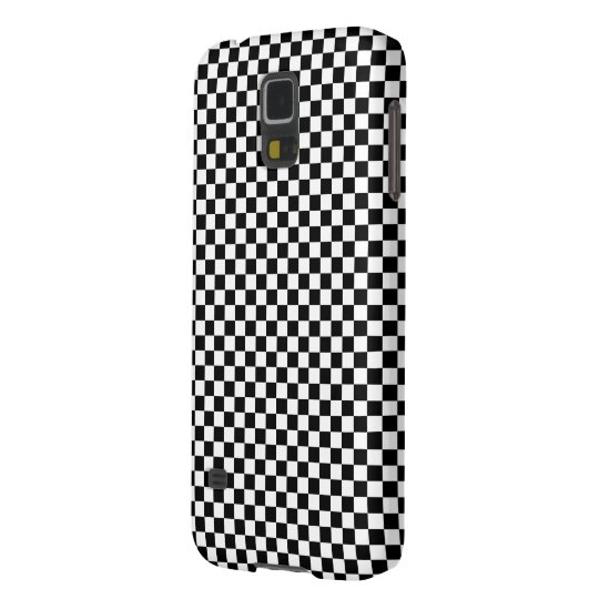 Chequered Square Illusion Black and White Galaxy S5 Covers