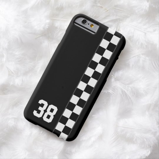 Chequered Stripe Custom Number iPhone 6 case