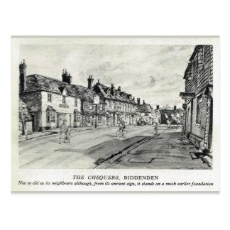 Chequers Inn, Biddenden Postcard