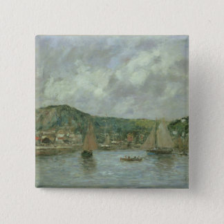 Cherbourg, 1883 (oil on canvas) 15 cm square badge