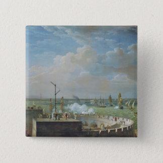 Cherbourg Harbour, 1822 15 Cm Square Badge