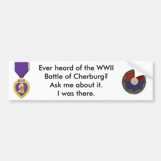 cherburg battle bumper sticker