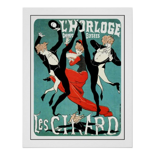 Cheret Art Nouveau Poster: Les Girard: Dance Poster
