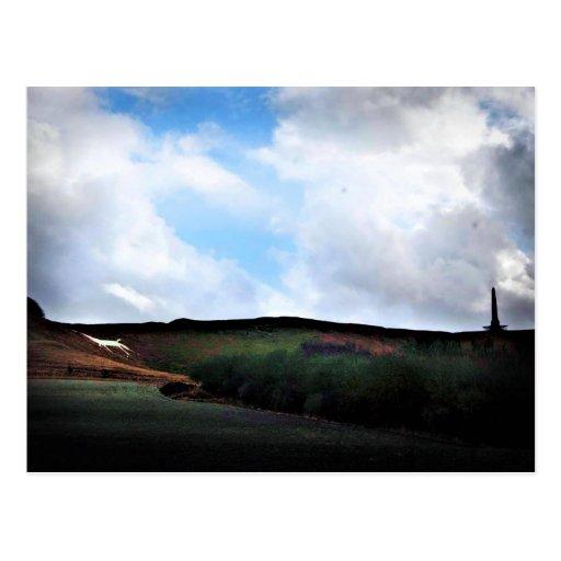 Cherhill White Horse - Wiltshire, England Post Card