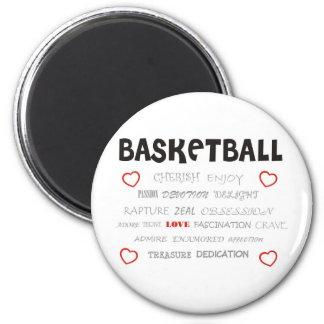 cherish-basketball. 6 cm round magnet