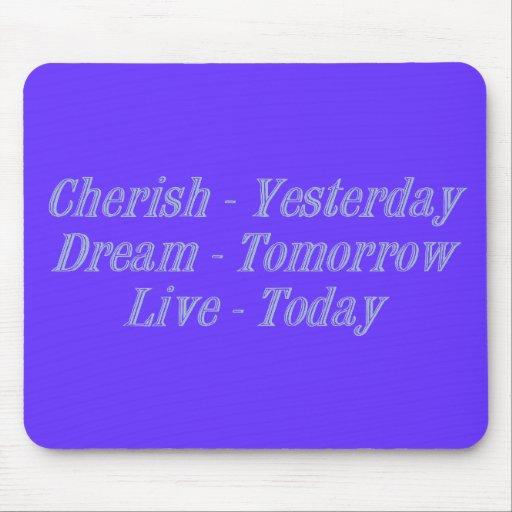 Cherish blue mouse pad