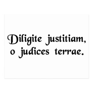 Cherish justice, o judges of the earth. postcard