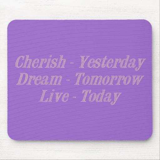 Cherish pink mousepads