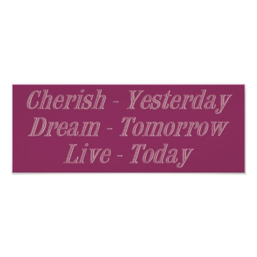 Cherish pink poster