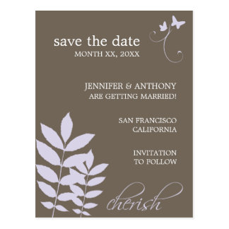 Cherish-Save The Date Postcard