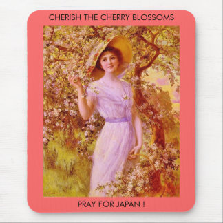 CHERISH THE CHERRY BLOSSOMS MOUSE PAD