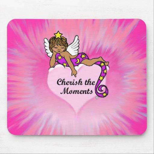 Cherish The Moments Ethnic Angel Mousepad