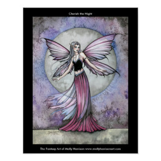 Cherish the Night Fairy Poster by Molly Harrison