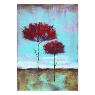 Cherished, Abstract Art Landscape Red Trees Pack Of Chubby Business Cards