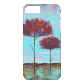 Cherished, Abstract Landscape Art, Red Trees iPhone 7 Case