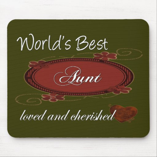 Cherished Aunt Mouse Pads