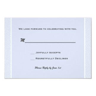 Cherished Blue - Response Card 9 Cm X 13 Cm Invitation Card