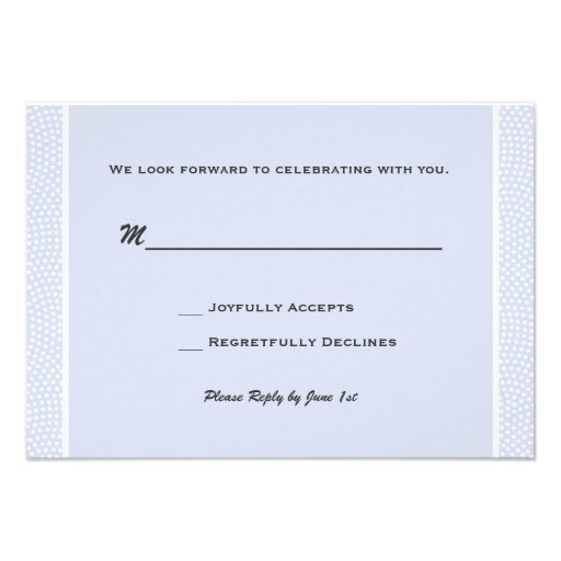 Cherished Blue - Response Card