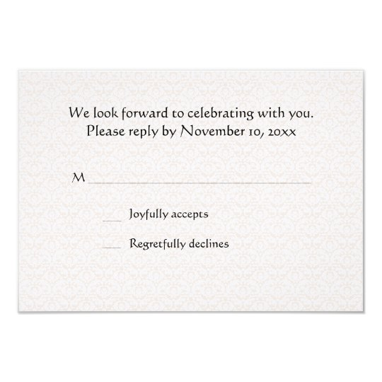 Cherished Moment RSVP Card