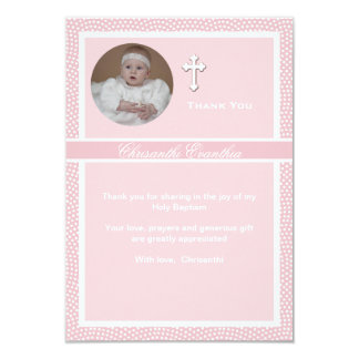 Cherished Pink Personalized Photo Thank You Card 9 Cm X 13 Cm Invitation Card