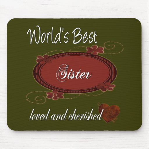 Cherished Sister Mouse Mats