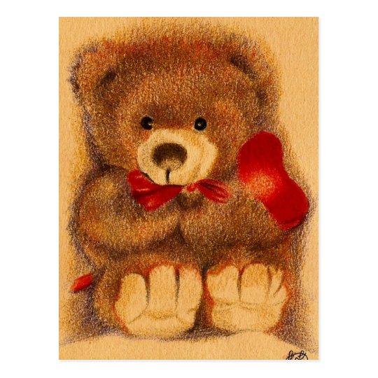 Cherished Teddy  Bear Postcard