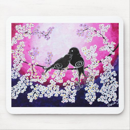 Cherished Whismy Original Art Print Mouse Pads