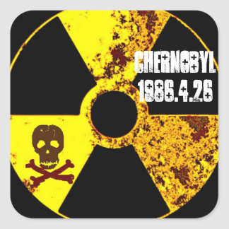 Chernobyl memorial anti nuclear square sticker