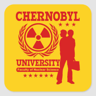 Chernobyl University Nuclear Science Geek Humor Square Sticker