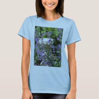 Cherob Bird Bath and Flowers T-Shirt