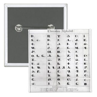 Cherokee Alphabet, Pendelton's 'Lithography' 15 Cm Square Badge