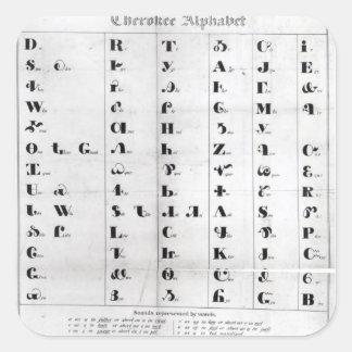 Cherokee Alphabet, Pendelton's 'Lithography' Square Sticker