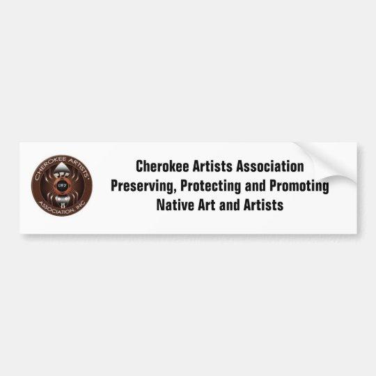 Cherokee Artists Association Bumper Sticker