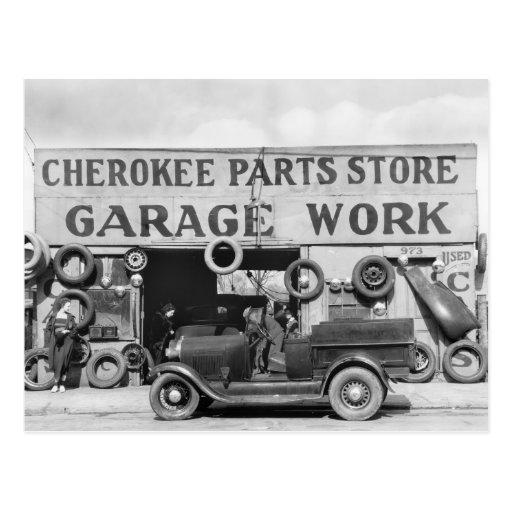 Cherokee Auto Parts: 1936 Postcards