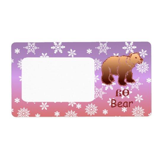 Cherokee Bear Custom Shipping Label