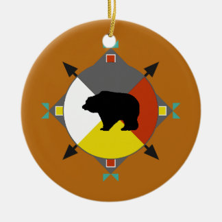 Cherokee Bear Four Directions Ornament