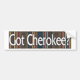 Cherokee Car Bumper Sticker