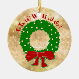 Cherokee Christmas Wreath Ornament