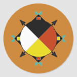 Cherokee Four Directions Round Sticker