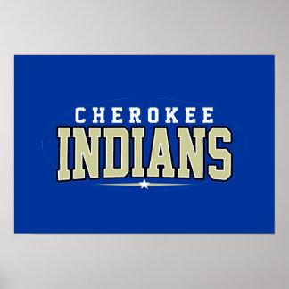 Cherokee High School; Indians Poster